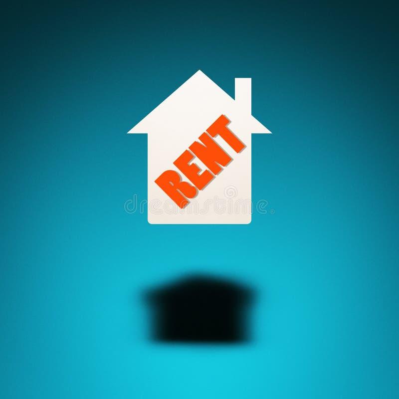 出租的房地产 向量例证