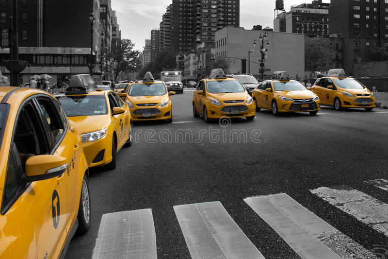 出租车 库存照片