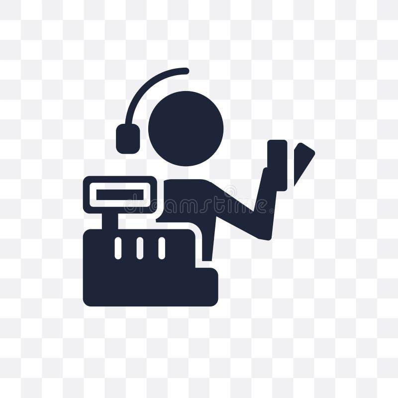 出纳员透明象 出纳员从行业的标志设计 库存例证