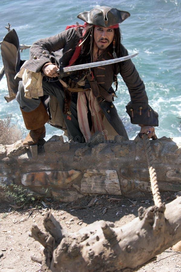 出逃的海盗 库存图片