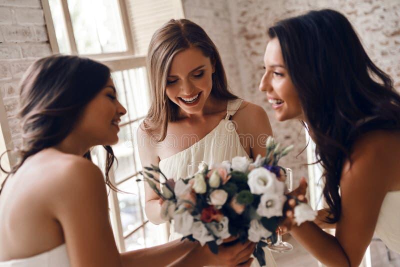 击倒被激发关于婚礼 免版税库存照片