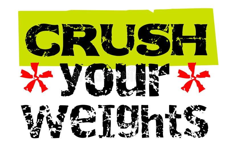 击碎您的重量 向量例证