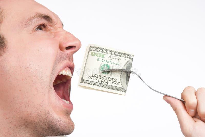 击败一百个人的票据接近的美元 免版税库存照片