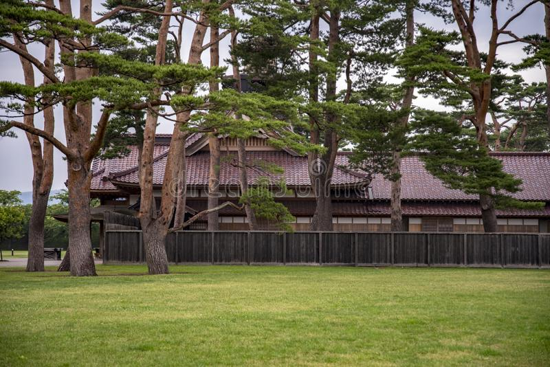 函馆城堡或前行政官办公室,日本 库存图片