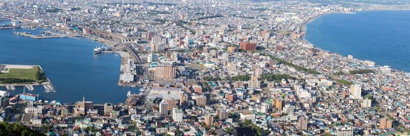 函馆, Hokkaidp,日本全景视图  图库摄影