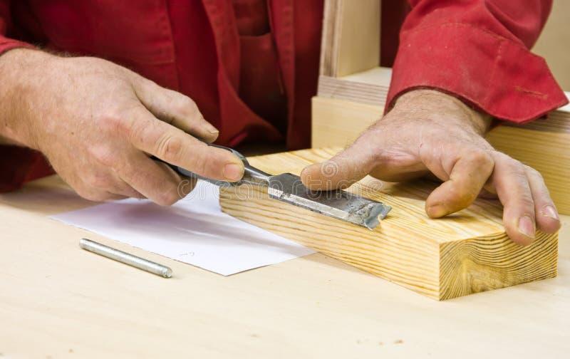 凿子传统使用木工 库存照片