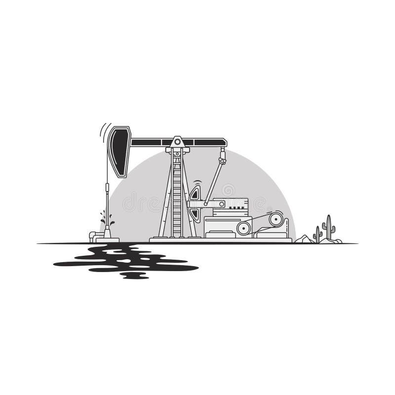 凿岩机,隔绝在白色背景,正面图,离开凿岩机 向量例证