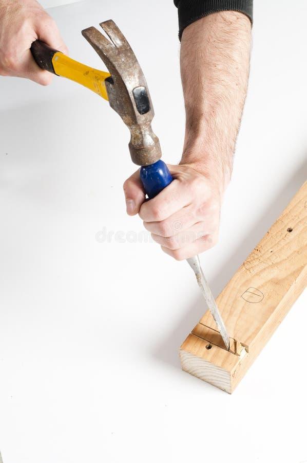 凿锤子 免版税图库摄影