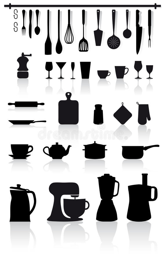 刀叉餐具家庭厨房器物 皇族释放例证
