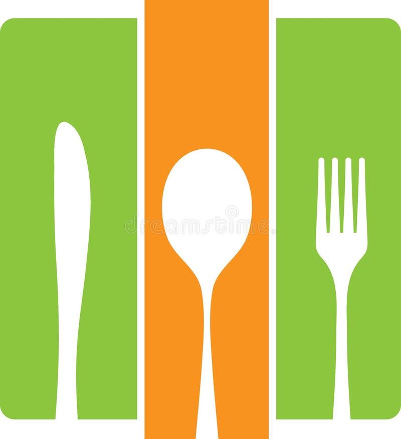刀叉餐具白色 皇族释放例证