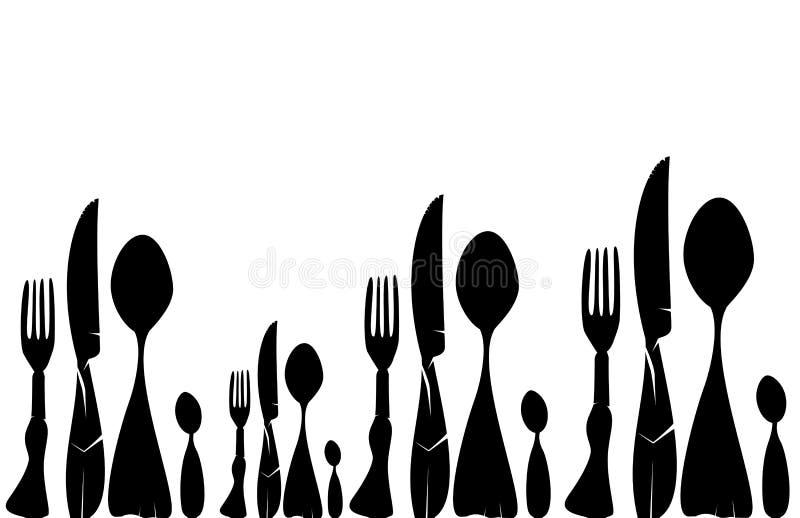 刀叉餐具纹理 皇族释放例证