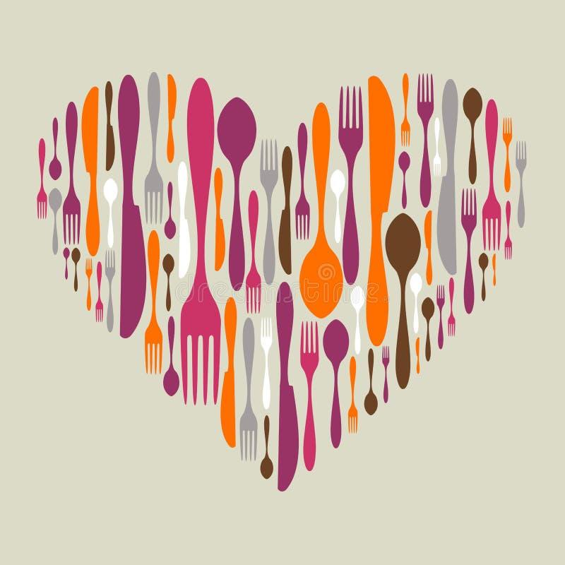 刀叉餐具重点图标集合形状 向量例证