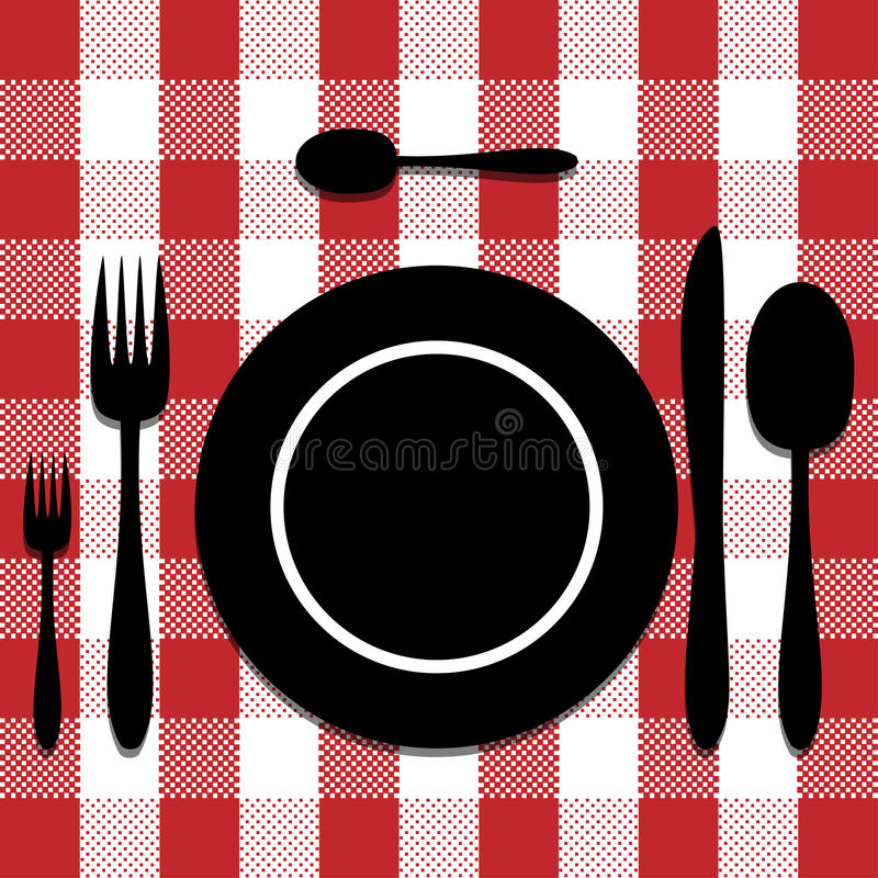 刀叉餐具集 库存例证