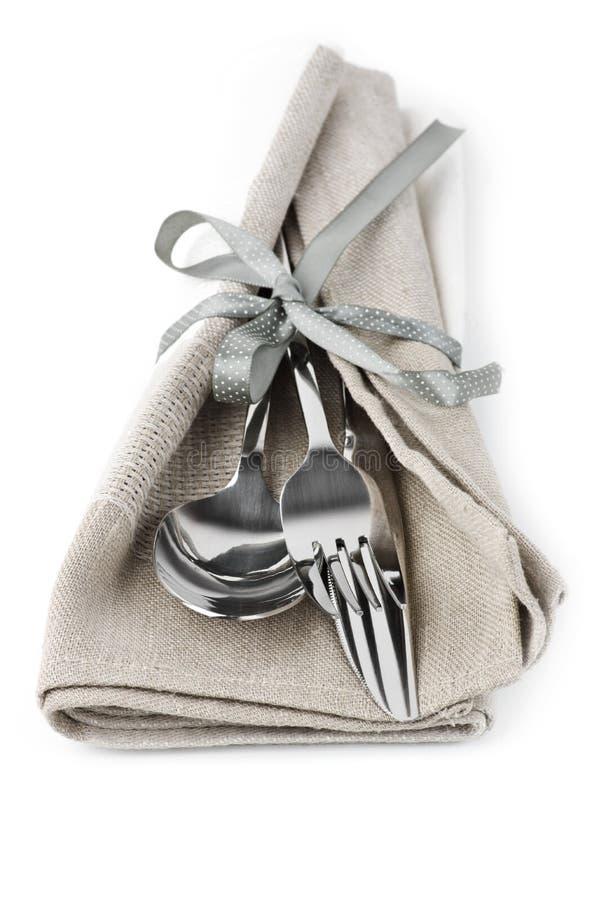 刀叉餐具集 免版税库存照片