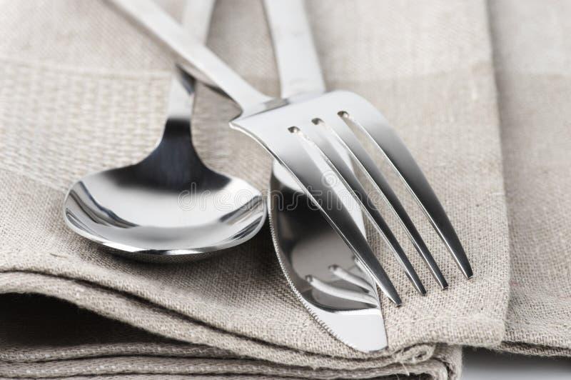 刀叉餐具集 免版税图库摄影