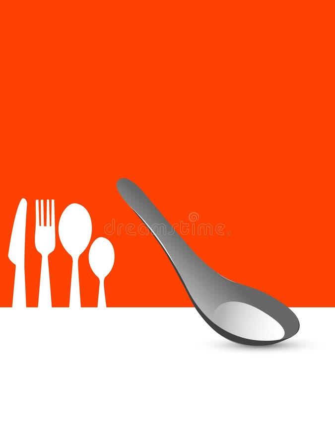 刀叉餐具集 皇族释放例证