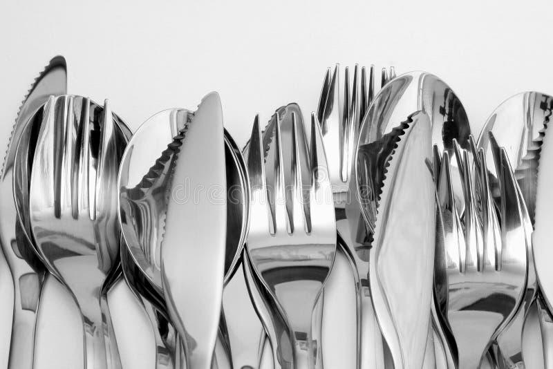 刀叉餐具 免版税库存照片