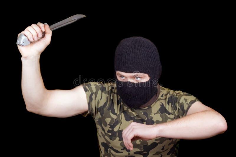刀子凶手 库存照片