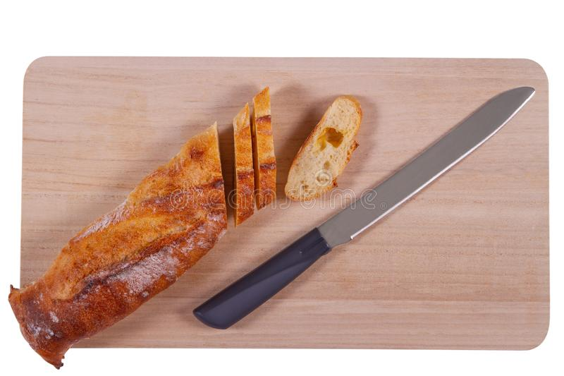 刀子和面包 免版税库存图片