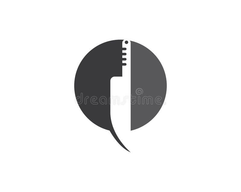 刀子商标模板 向量例证