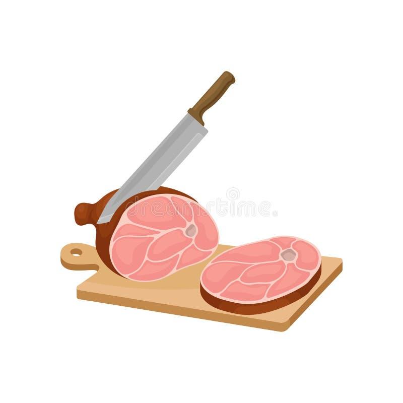 刀子裁减每肉片在委员会的 r 皇族释放例证