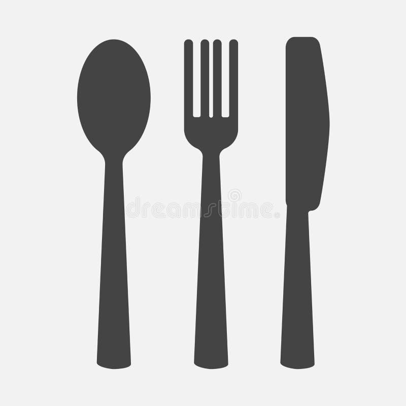 刀子,叉子,匙子 刀叉餐具 制表设置 传染媒介象illustra 向量例证
