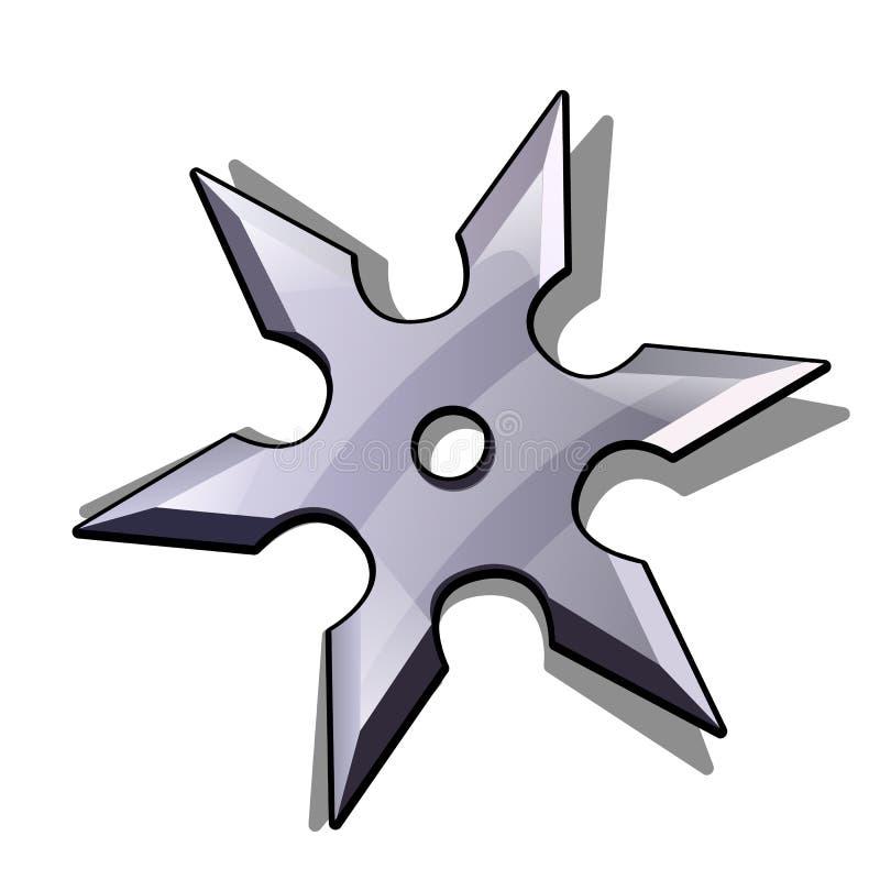 刀片星ninja在白色背景shuriken隔绝 也corel凹道例证向量 向量例证