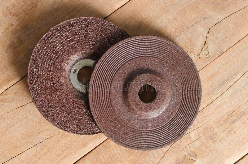 刀片研磨机磨蚀挡水板砂轮 免版税库存照片