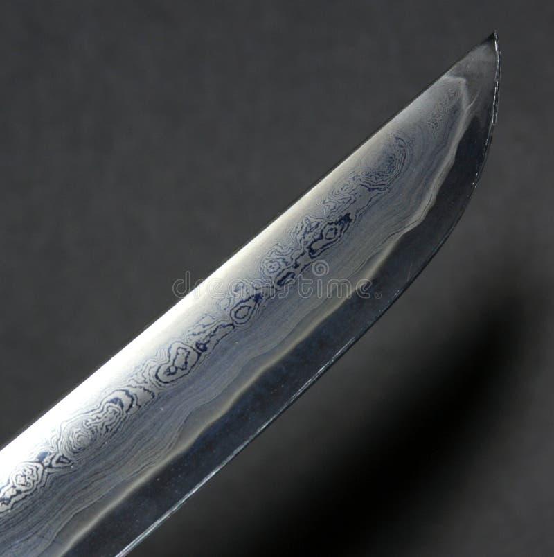 刀片hamon tanto 免版税库存图片