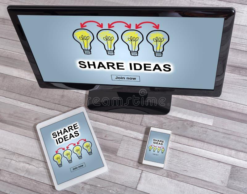 分享在不同的设备的想法概念 库存照片