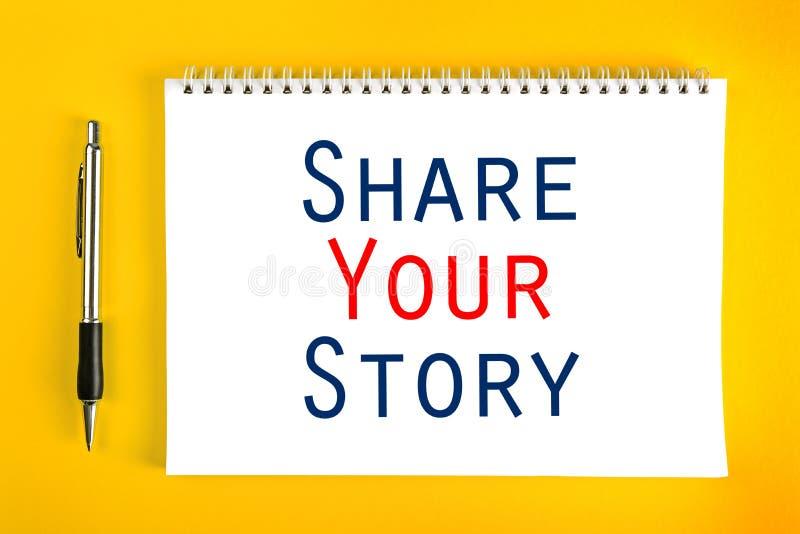 分享您的故事概念 免版税库存照片