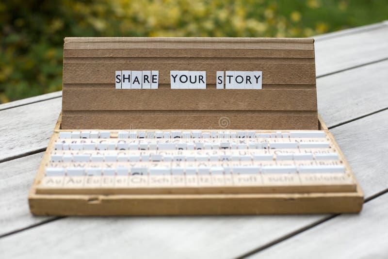 分享您的故事 图库摄影