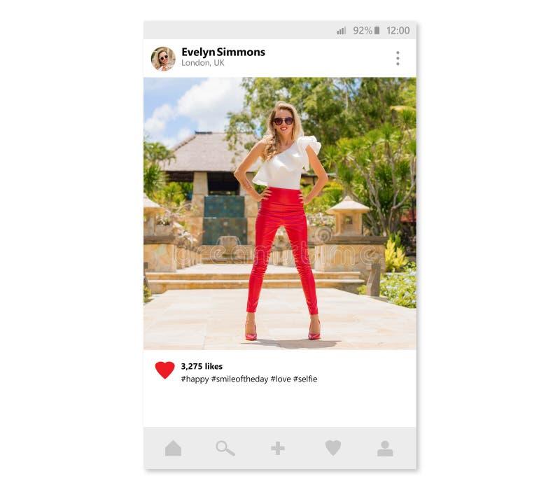 分享流动app的照片范例设计 图库摄影