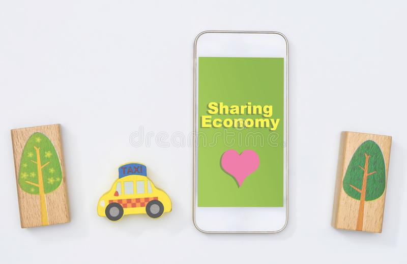 分享经济出租汽车帮助拯救世界 免版税库存照片