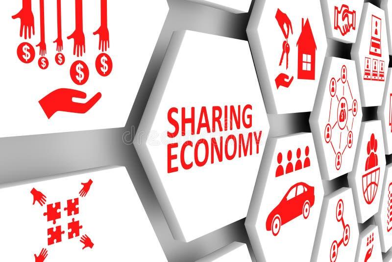 分享经济概念细胞背景 向量例证