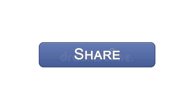 分享网接口按钮紫罗兰色颜色,社会网络应用,站点设计 库存例证