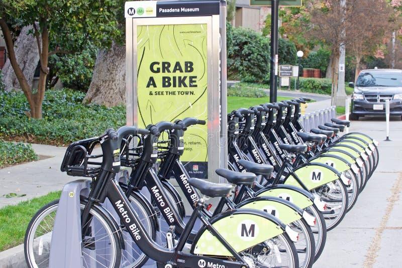 分享节目的地铁自行车 库存照片