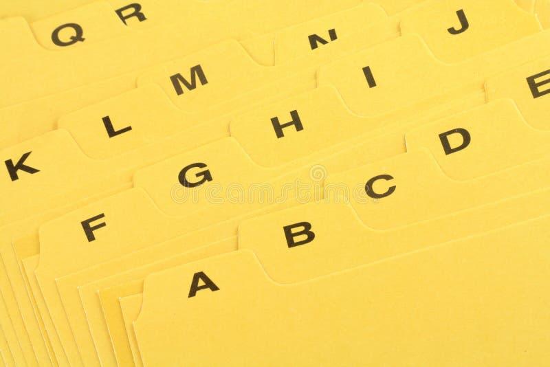 分切器文件黄色 免版税图库摄影