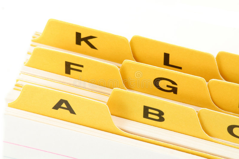 分切器文件黄色 库存照片