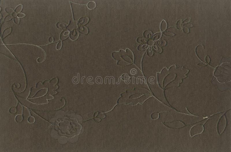 分割丝织物纹理与一个过大的补丁样式的 免版税库存图片