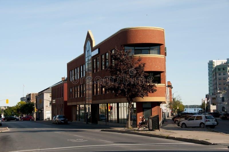 分叉的街道-金斯敦-加拿大 库存图片