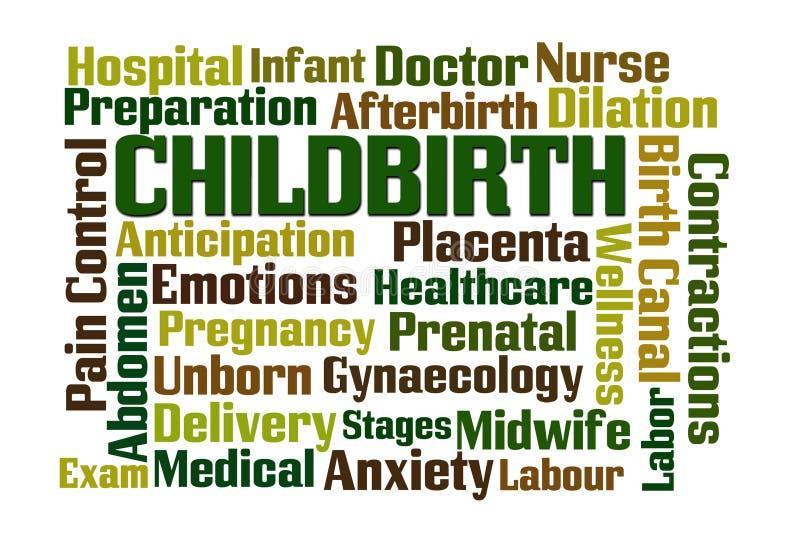 分娩 向量例证