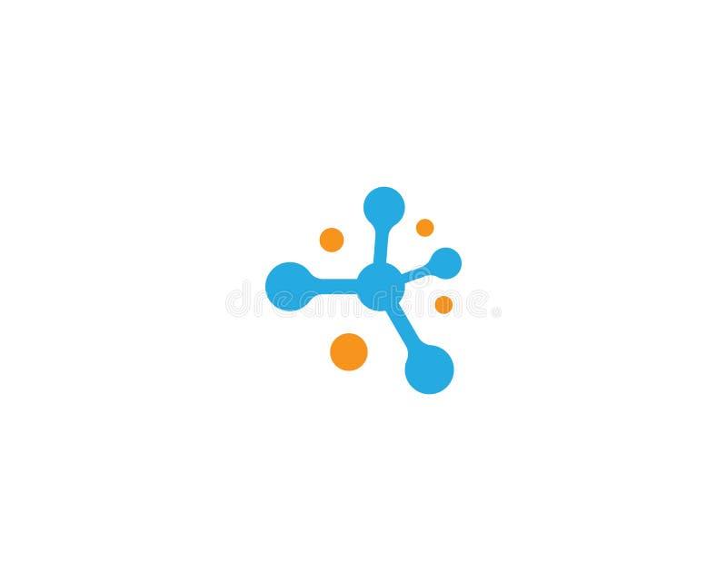 分子商标模板 库存例证