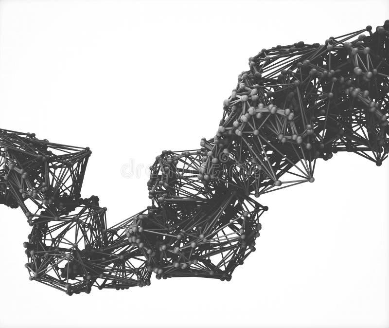 分子多角形结构 向量例证