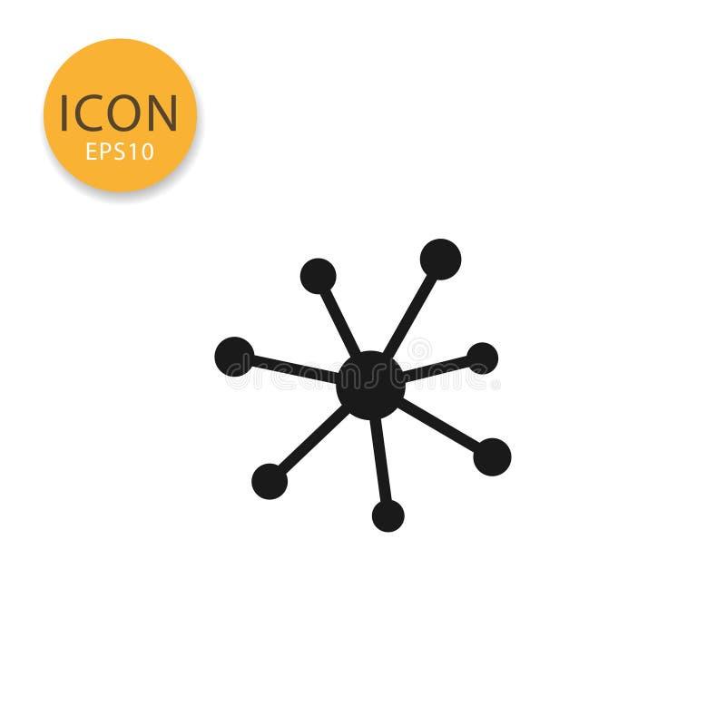 分子或连接象被隔绝的平的样式 库存例证