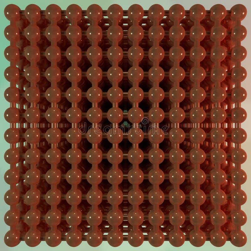 分子样式concepture被连结的球形 对图形设计或背景,真正几何 3d?? 皇族释放例证