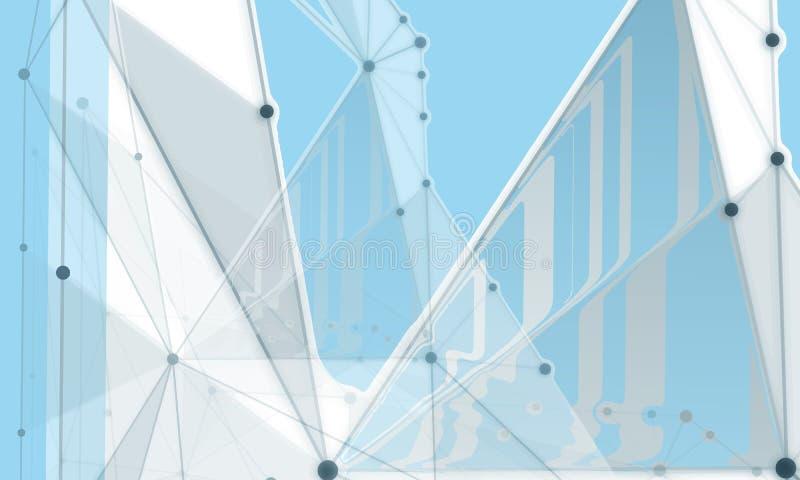 分子浅灰色的线抽象背景  免版税库存图片