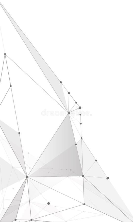 分子浅灰色的线抽象背景  库存图片