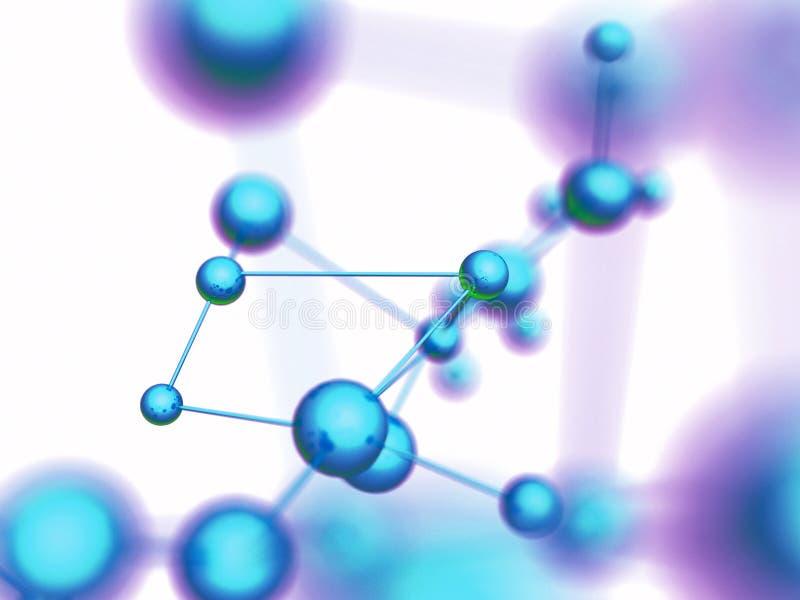 分子的背景 库存例证