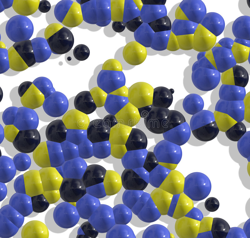 分子结构 向量例证